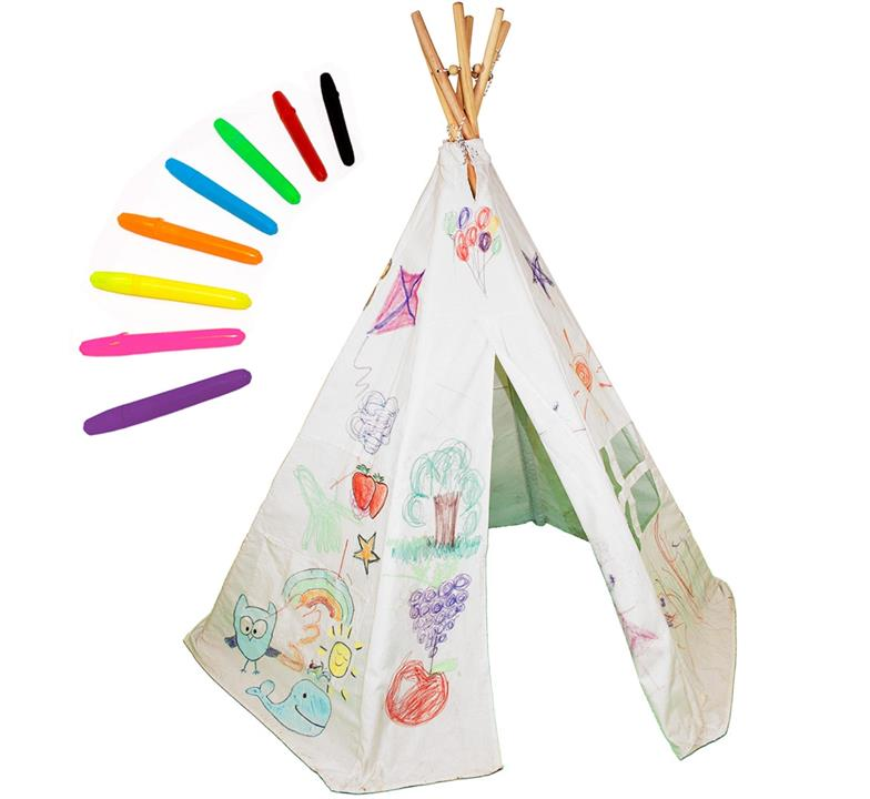 Colour Me In / Decorate Your Own Childrens Wigwam/Teepee