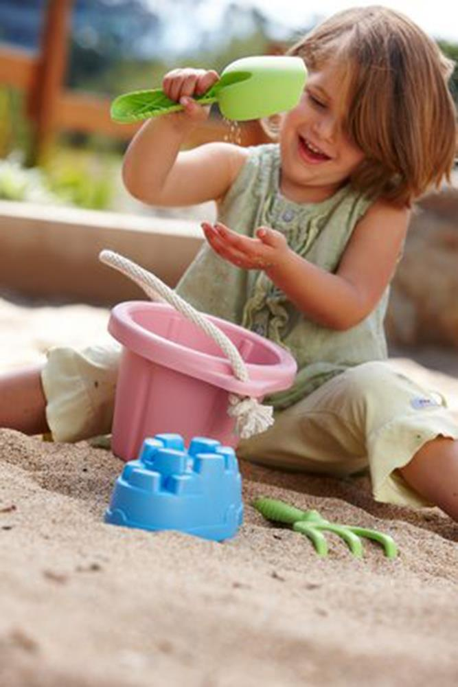 Sandpit and Sandbox 4 Piece Play Set - Pink