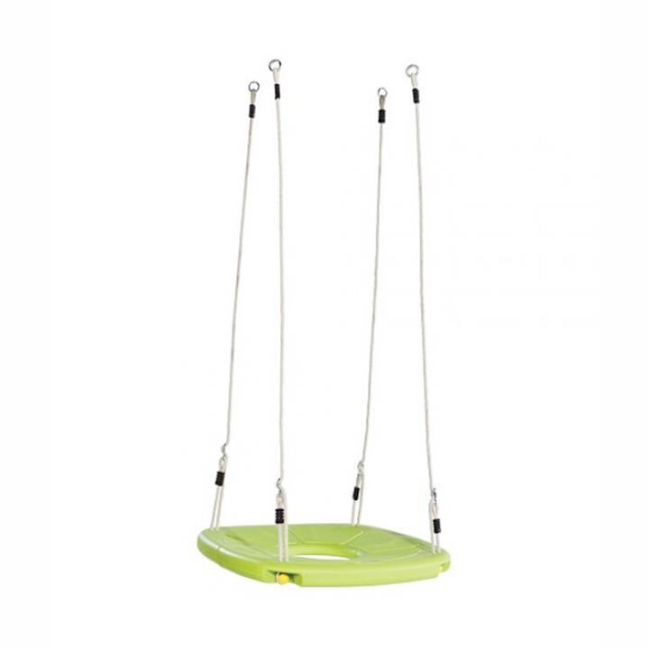 Squaro Lime Green Special Needs Nest Swing with Adjustable PH Ropes