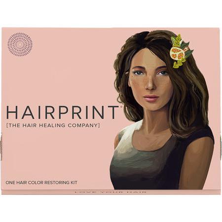 Image of HairPrint True Color Grey Hair Restorer for Women - Brown