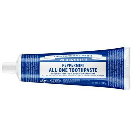 Image of Dr Bronner's All-One Toothpaste - Peppermint - 140g