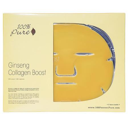 Image of 100% Pure Ginseng Collagen Boost Mask - Single Mask