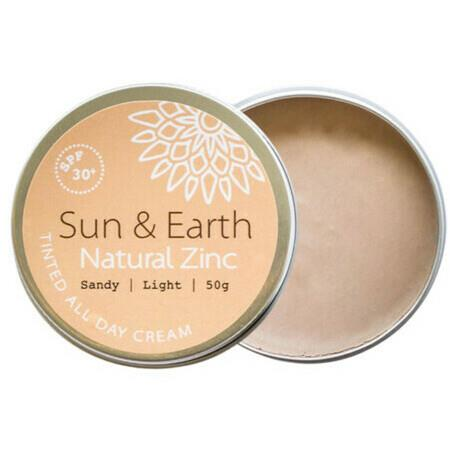 Image of Sun & Earth Natural Zinc Tinted All Day Cream SPF 30+ - Sunny Tan 50g