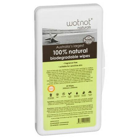 Image of WOTNOT Biodegradable Baby Wipes - 20 Pack Travel Case - Travel Case - 20 Pack