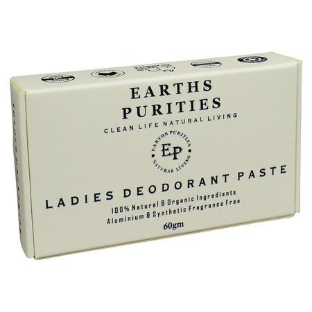 Image of Earths Purities Ladies Natural Deodorant Paste - 60g