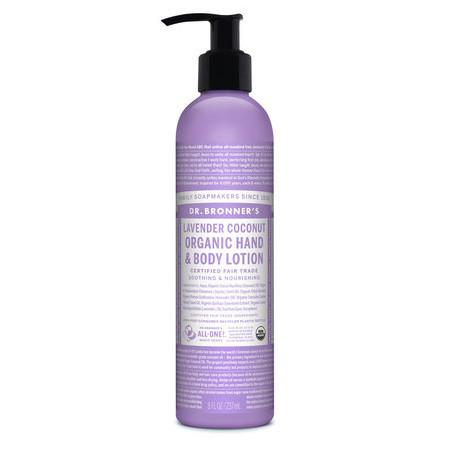 Image of Dr Bronner's Organic Hand & Body Lotion - Lavender Coconut - 237ml