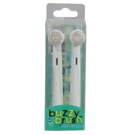 Image of Jack N' Jill Buzzy Brush - Replacement Heads 2 Pack - 2 Head Pack