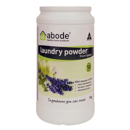Image of Abode Front & Top Loader Laundry Powder - Lavender & Mint - 1kg