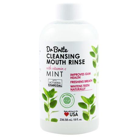 Image of Dr Brite Cleansing Mouth Rinse - Mint - *REGULAR* - 236ml