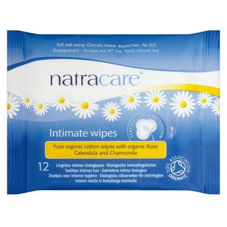 Image of Natracare Intimate Wipes - 12 Wipes