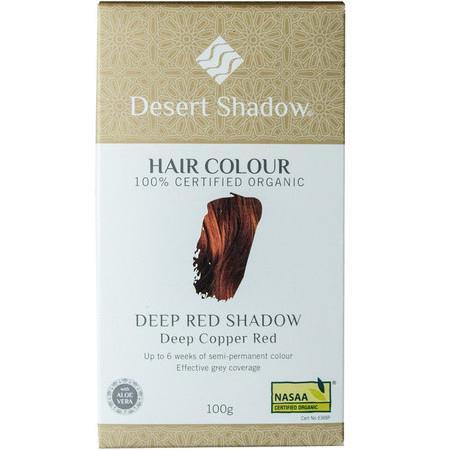 Image of Desert Shadow Organic Hair Dye - Deep Red Shadow - 100g