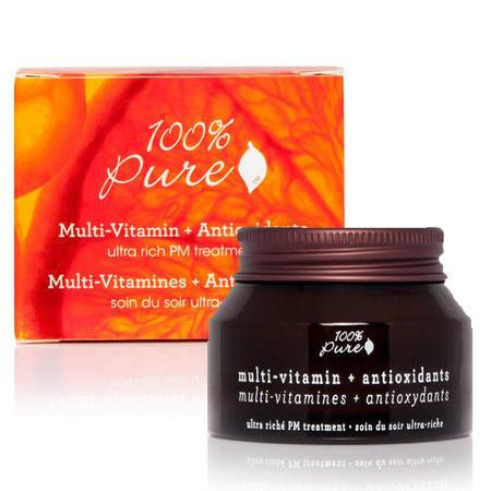 Image of 100% Pure Multi-Vitamin + Antioxidants Ultra Riche PM Treatment - 42.5g