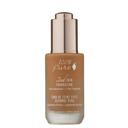Image of 100% Pure 2nd Skin Foundation with Olive Squalane + Fruit Pigments: Toffee - 35ml