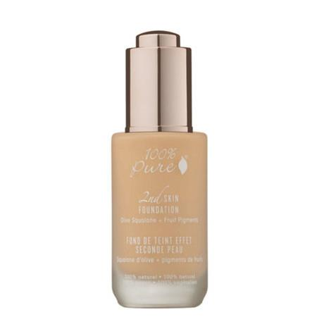 100% Pure 2nd Skin Foundation with Olive Squalane + Fruit Pigments - Shade 2 (White Peach) - 35ml