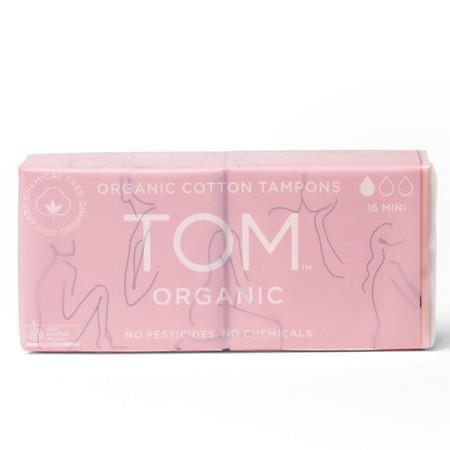 Image of TOM Certified Organic Tampons - Mini - 16 Per Pack
