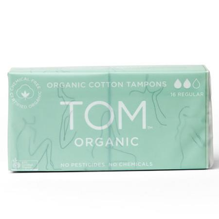 Image of TOM Certified Organic Tampons - Regular - 16 Per Pack