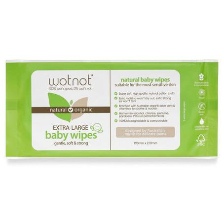 Image of WOTNOT Biodegradable Baby Wipes - 80 Pack - 70 Pack
