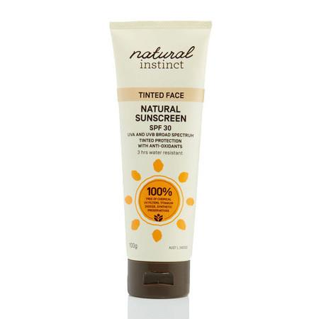 Image of Natural Instinct Tinted Face Sunscreen SPF30 - *Large* 100g