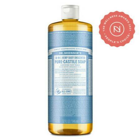 Dr Bronner's Pure-Castile Liquid Soap - Baby Unscented Mild - Medium 473ml
