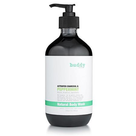 Image of Buddy Scrub Activated Charcoal & Peppermint Body Wash - 500ml
