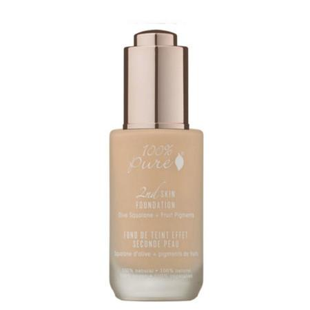 100% Pure 2nd Skin Foundation with Olive Squalane + Fruit Pigments - Shade 1 (Créme) - 4g Sample Pot