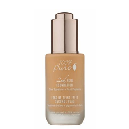 100% Pure 2nd Skin Foundation with Olive Squalane + Fruit Pigments - Shade 4 (Golden Peach) - 3ml Sample Sachet