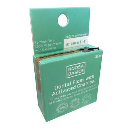 Image of Noosa Basics Dental Floss with Activated Charcoal - *Mint* 35g