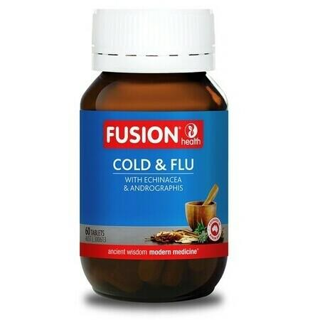 Image of Fusion Health Cold & Flu Tablets - 60 Tablets