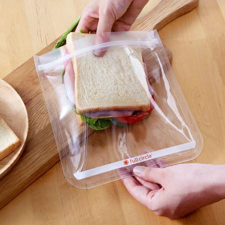 Image of Full Circle Ziptuck Reusable Sandwich Bags - *Clear* 2-Pack