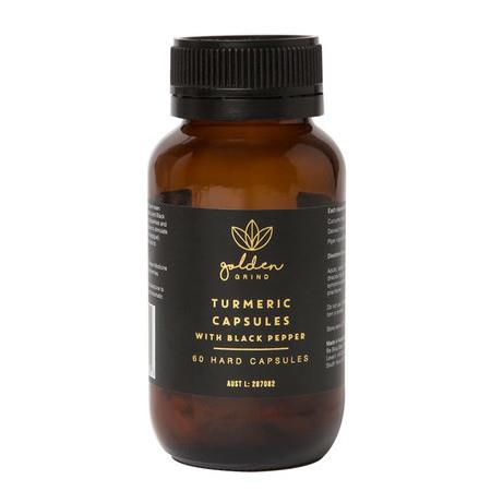 Image of Golden Grind Turmeric Capsules with Black Pepper - 60 Capsules