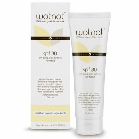 Image of WOTNOT 30 SPF Anti-Aging Facial Sunscreen & Primer - 75g