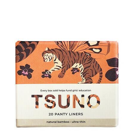 Image of Tsuno Natural Bamboo Pads - Panty Liners - 20 Per Box