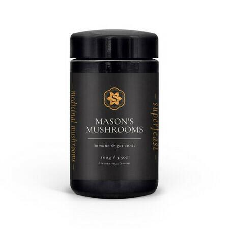 Image of SuperFeast Mason's Mushrooms Powdered Extract Blend - 100g Miron Jar