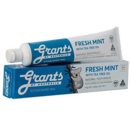 Image of Grants Fresh Mint with Tea Tree Oil Toothpaste - 110g
