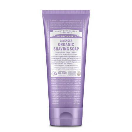 Image of Dr Bronner's Organic Shaving Soap - Lavender - 207ml