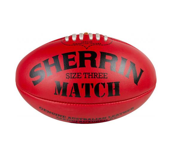 Sherrin Match Ball Size 3 Red Leather