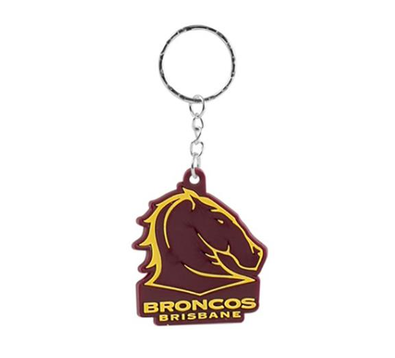 Brisbane Broncos Rubber Logo Key Ring