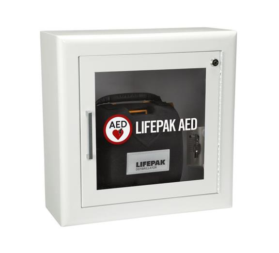LIFEPAK Surface Mount Wall Cabinet with Alarm and Strobe