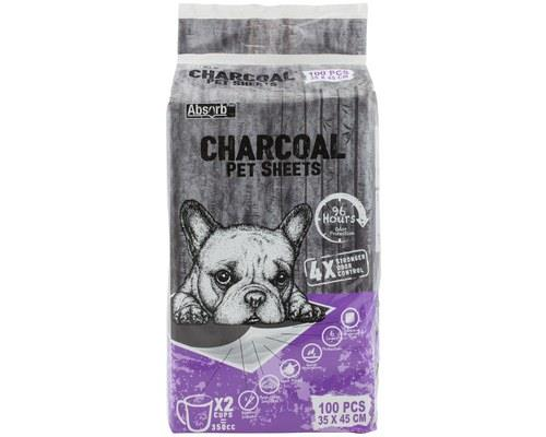 Image of Absorb Plus Charcoal Pet Sheets (45 X 35cm) 100 Pack