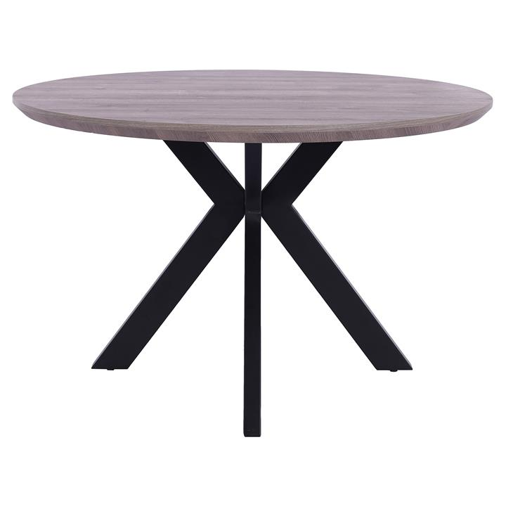 Axle Round Dining Table, 120cm, Grey Oak