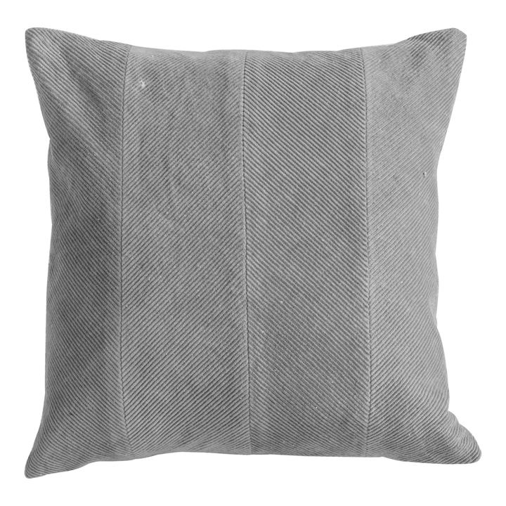 Cyra Cotton Velvet Scatter Cushion, Grey
