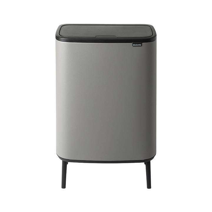Brabantia BO Hi Touch Waste Bin, 60 Litre, Mineral Concrete Grey