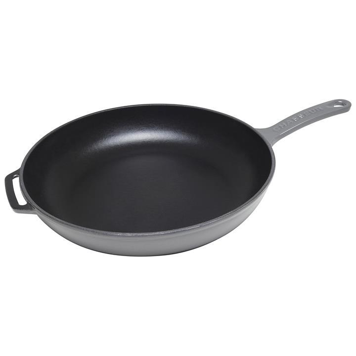 Chasseur Cast Iron Fry Pan, 28cm, Caviar