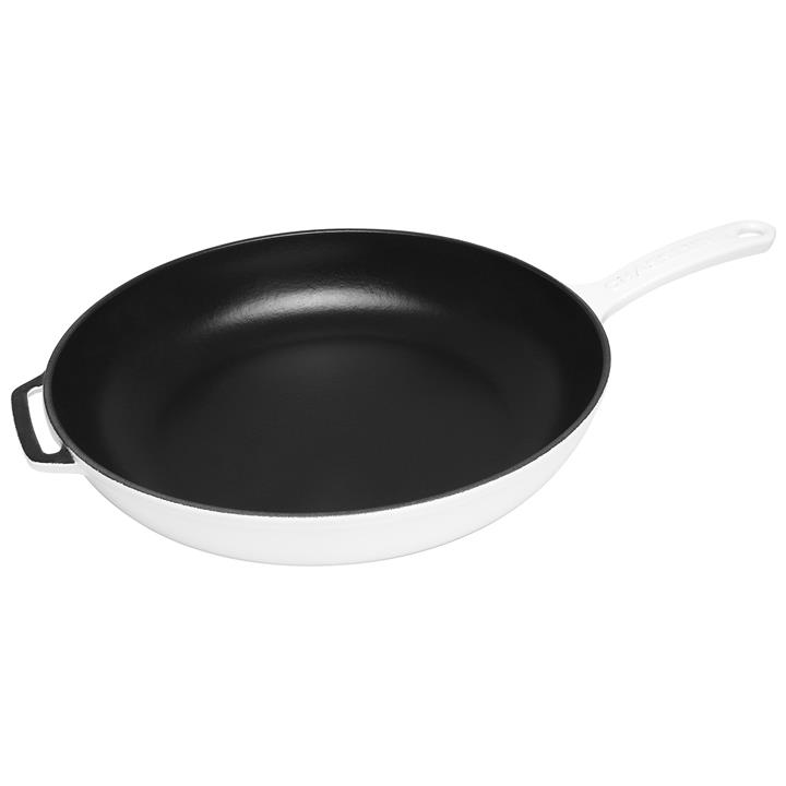 Chasseur Cast Iron Fry Pan, 28cm, Brilliant White
