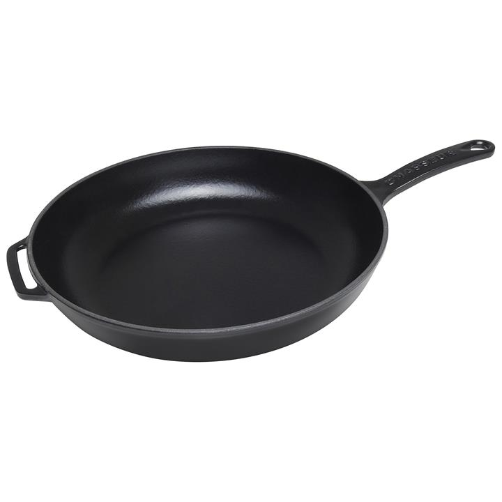 Chasseur Cast Iron Fry Pan, 28cm, Matt Black