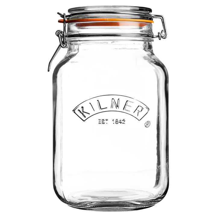 Kilner Clip Top Square Square Jar, 1.5 Litre