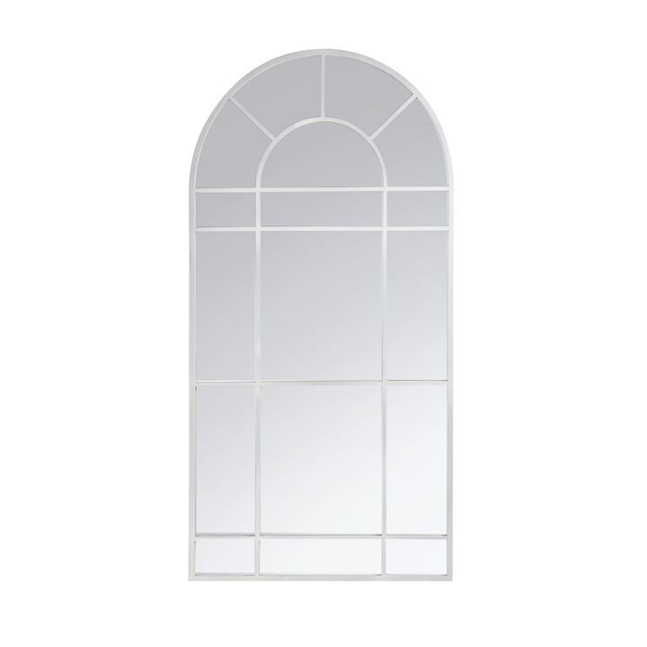 Clementine Metal Frame Arch Window Floor Mirror, 185cm