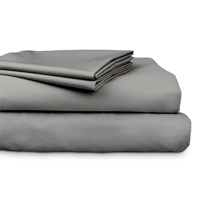Ajee 3 Piece 300TC Cotton Sheet Set, King Single, Charcoal