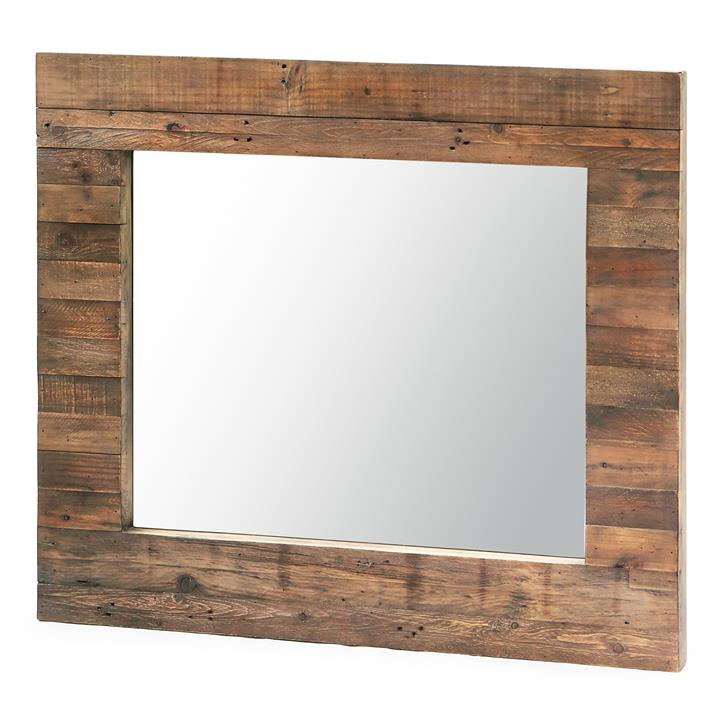 Bohemian Reclaimed Timber Frame Wall Mirror,130cm