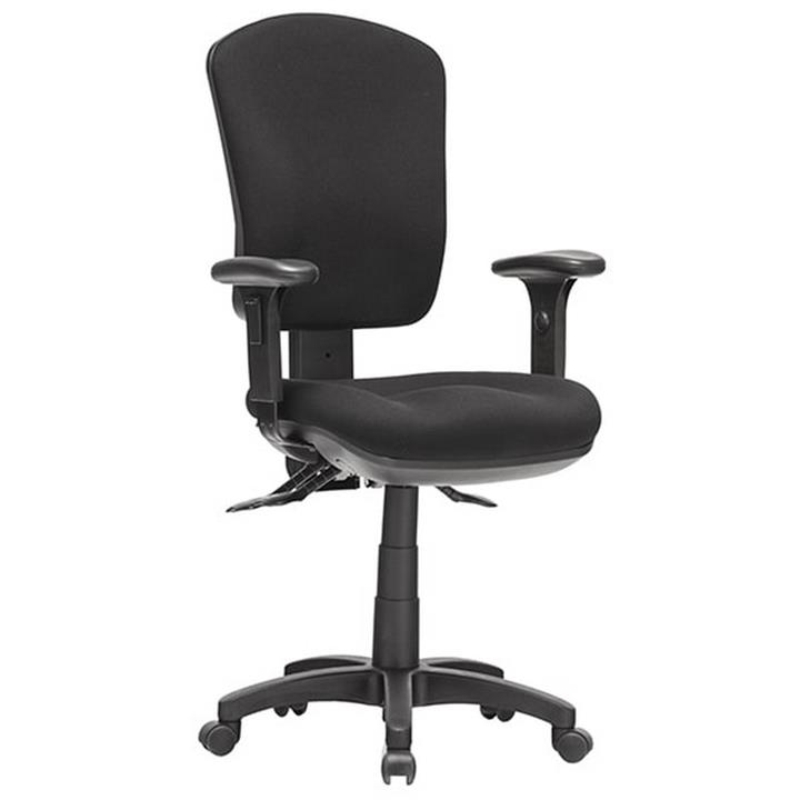 Aqua Fabric Task Office Chair with Arm, High Back